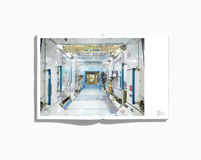 "Spread showing the Destiny Module of the ISS, from the forthcoming book ""NASA - Past and present dreams of the future"" by © Benedict Redgrove"