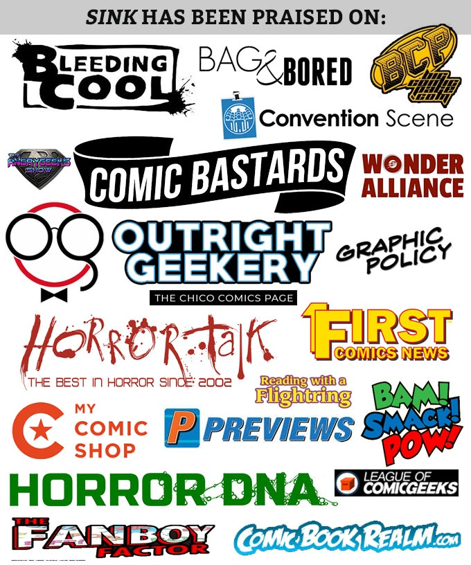 SINK: Blood & Rain - Crime/Horror GN will Break Kickstarter