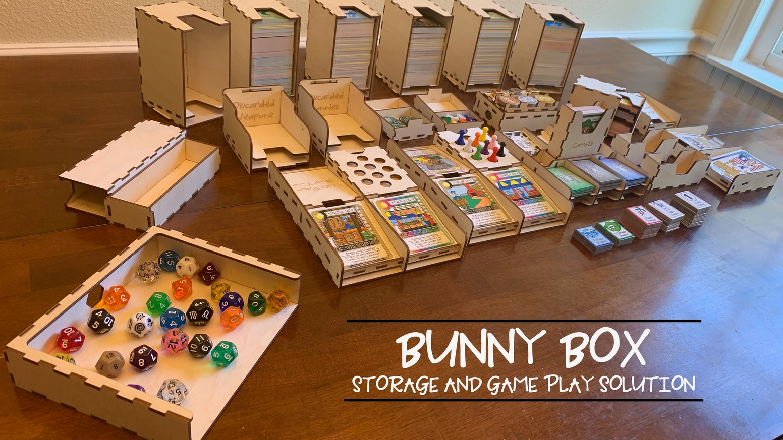 Bunny Box Storage and Game Play Solution by Sand Box Gaming