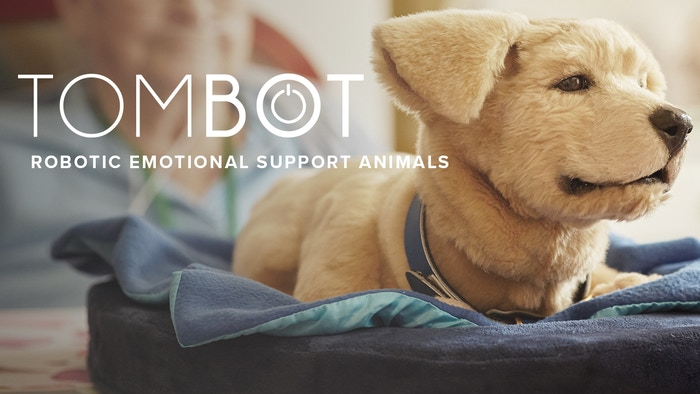 Tombot is the world's most realistic robotic animal. Designed to emulate a live puppy's appearance and behavior, Tombot provides ongoing fun, happiness, and emotional support at a reasonable price.