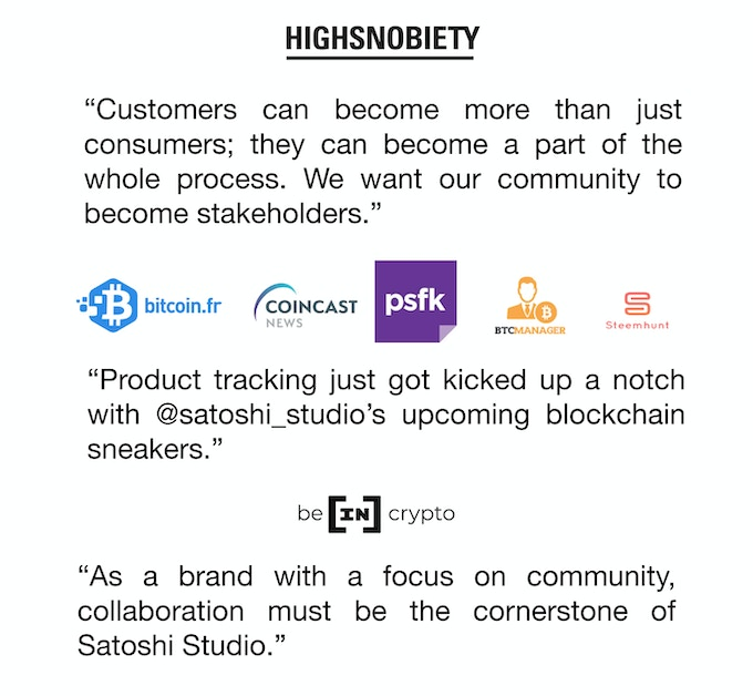 Satoshi_one: High-end sneakers for tech lovers by Satoshi