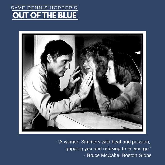 "Dennis Hopper, Sharon Farrell, Linda Manz in ""Out of the Blue"""