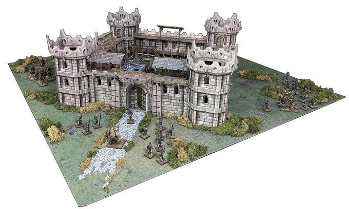 Example of the Citadel set on a 3' x 3' / 90cm x 90cm gaming area