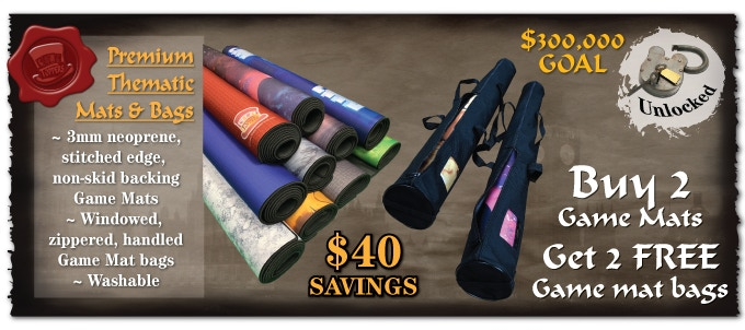 Pledge Manager will prompt you for your 2 pack mat special. Likewise Special shipping savings for multiple mats ordered. If you buy 4 mats you will get 4 mat storage bags and reduced shipping.will be applied there