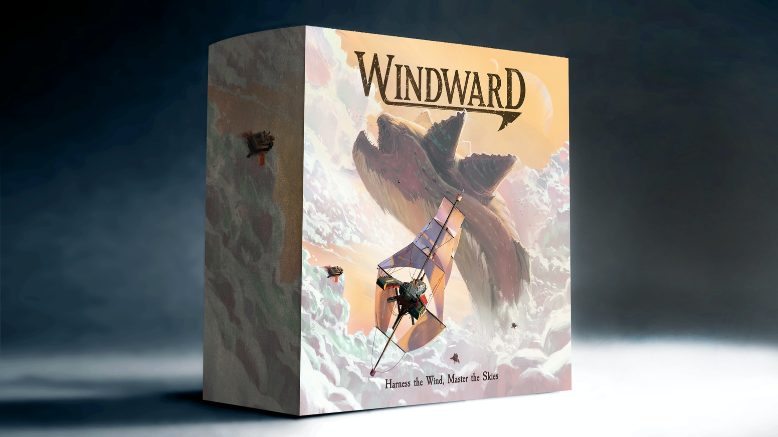 A strategic board game. Become the most notorious sky captain by harnessing the wind, hunting leviathans, and plundering opponents.