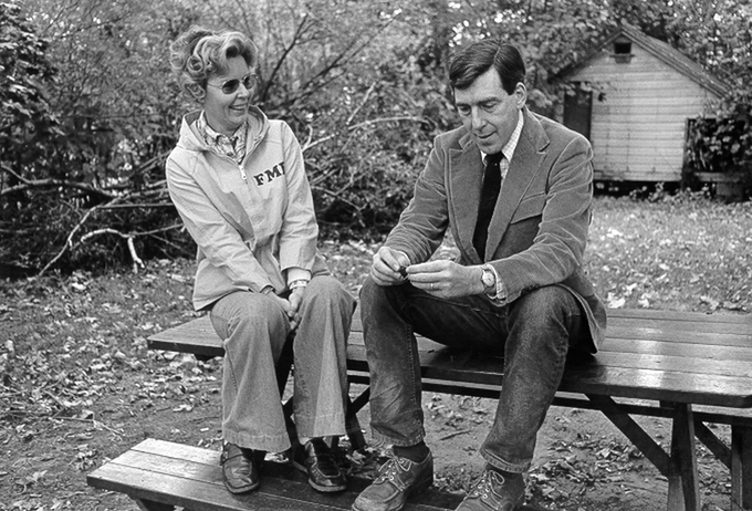 Russell Edson with his wife Frances, early 1960s (Photo by Jim Kalett from the UPenn Rare Book & Manuscript Library Image Collections)