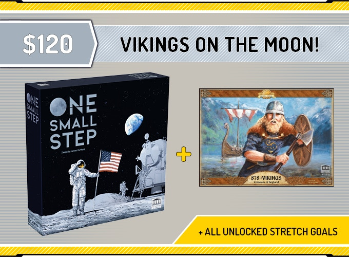 One Small Step + All unlocked Exclusive Stretch Goals + '878 Vikings' - Historical Game of the Year! Click on the image for more information about 878 Vikings..