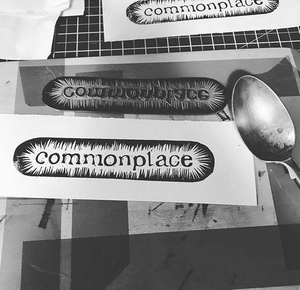 New logo design for Commonplace which will be used on the bookmark and packaging