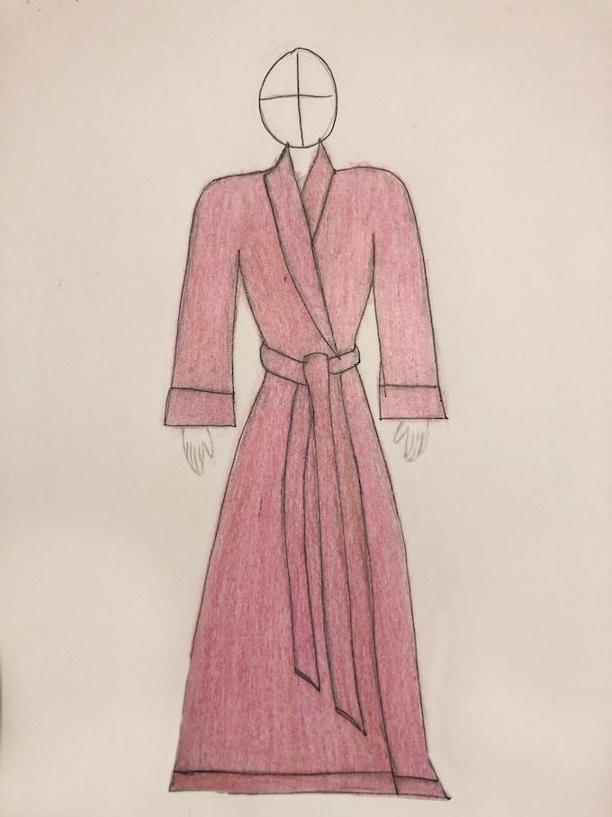 Sketch for reality TV star wardrobe. Design by Victoria LeRae Moreno.