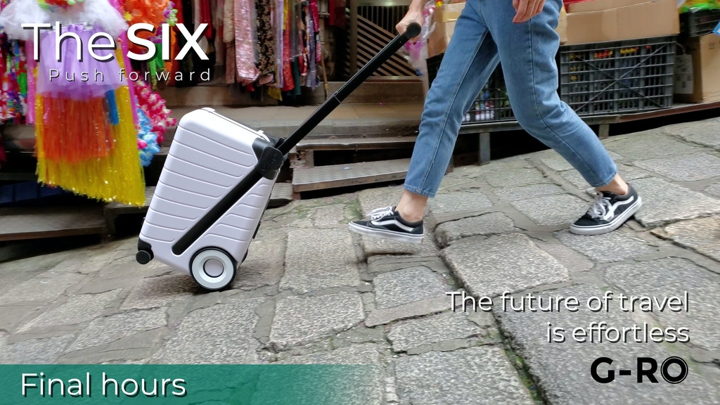 The SIX: Carry-on Luggage You Effortlessly Push Forward project video thumbnail