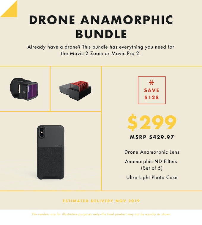 Moment Air: Anamorphic Lens, Filters, & Cases for Drones by