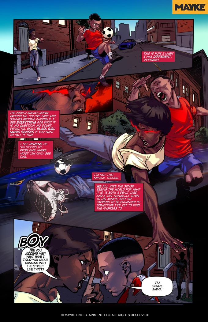 Mayke's Braxton Regenesis   Written by Stephanie Williams and Valerie Complex; Illustrated by Miguel A. Ruiz; Colored by Tim Wasney; Lettered by Ed Williams