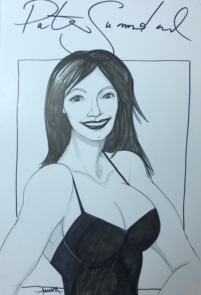"11"" x 17"" Pencil & Ink on Comic Art Board - Portrait of Patricia Summerland by Amanda Rachels - $40 Reward Tier!"