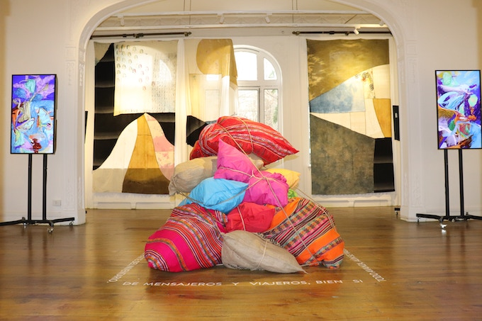 Neo Norte 1.0 - Fundación Cultural de Providencia, Santiago, Chile - August / September 2018 - Nature V/S Digital Room - Curator: Tere Chad - Chasqui Installation: Susana Uvidia - Digital Paintings: Gordon Berger - Textile Installation: Matteo Valerio