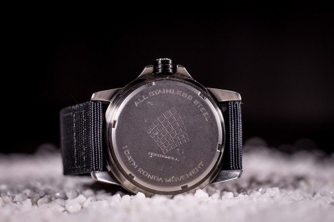Desigmell Logo engraved, 100 Meter waterproof and one of the best Swiss Quartz Movement