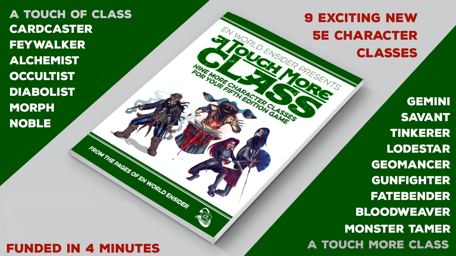 Monster tamers, gunfighters, tinkerers, savants, and more! These new classes expand your 5th Edition game in exciting new ways!