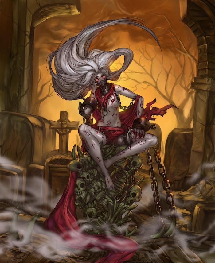 Girtiya, the Imprisoned Witch Resin Kit