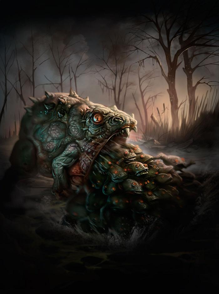 The hideous creature Bufo Maledictus