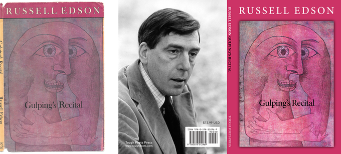 Left: Scan of my beat up copy of the original Guignol Book's edition / Right: Cover and spine design for the new Tough Poets Press edition (back cover photo of Russell Edson by Jim Kalett)