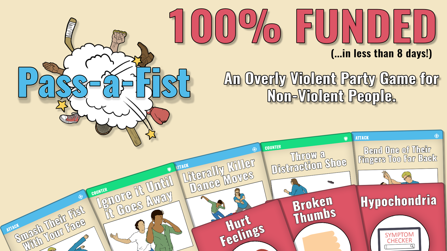 An overly violent party game for non-violent people.