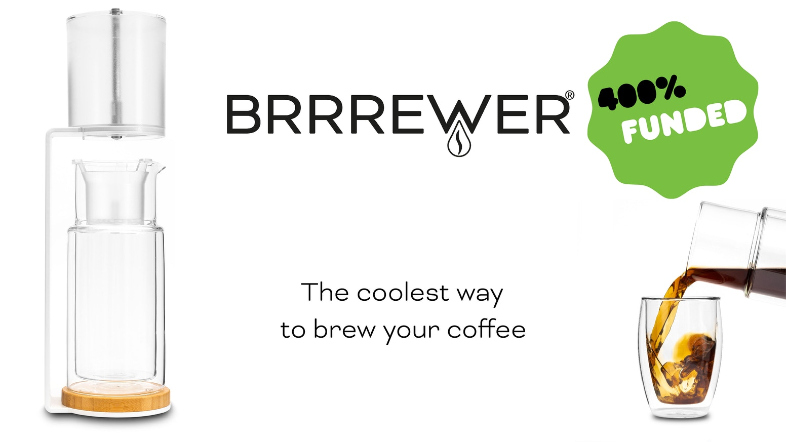 BRRREWER is a cold drip coffee system with a fresh perspective and a strong emphasis on design and sustainability.