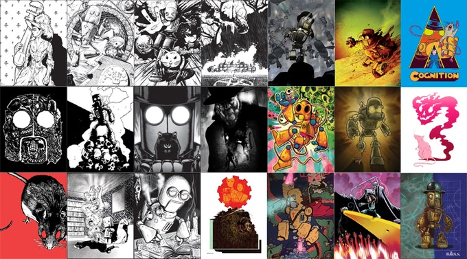 We've been lucky to commission some wonderful pin-ups from the best indie comic creators