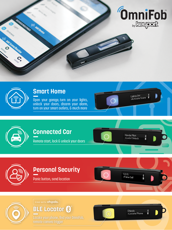 OmniFob: World's Smartest Key Fob - Control Your Everything
