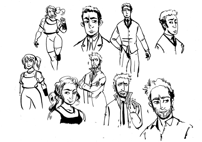 Early Character Sketches