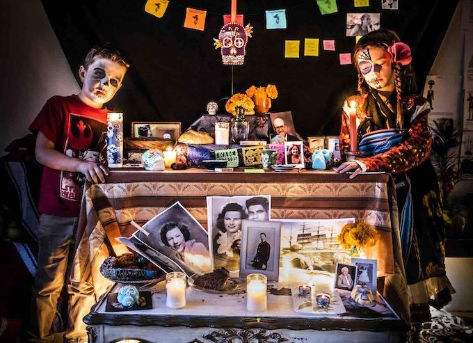 Dia de Los Muertos altar in La Sala. Photograph by Nova Sanders