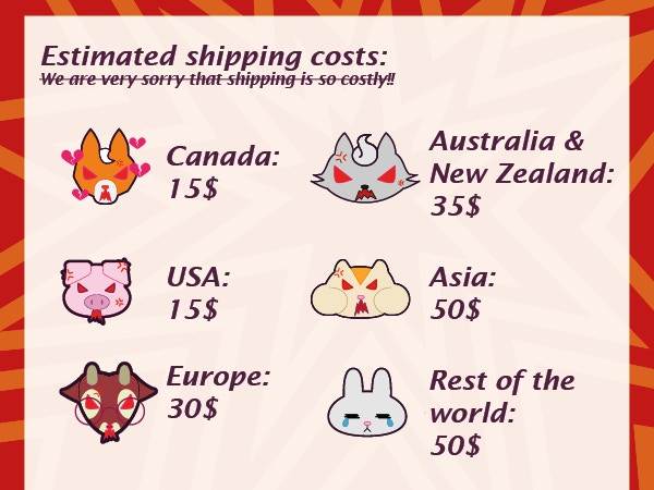 We're so sorry shipping is so costly!!