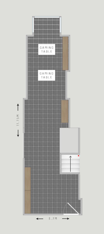 Floorplan of the new shop