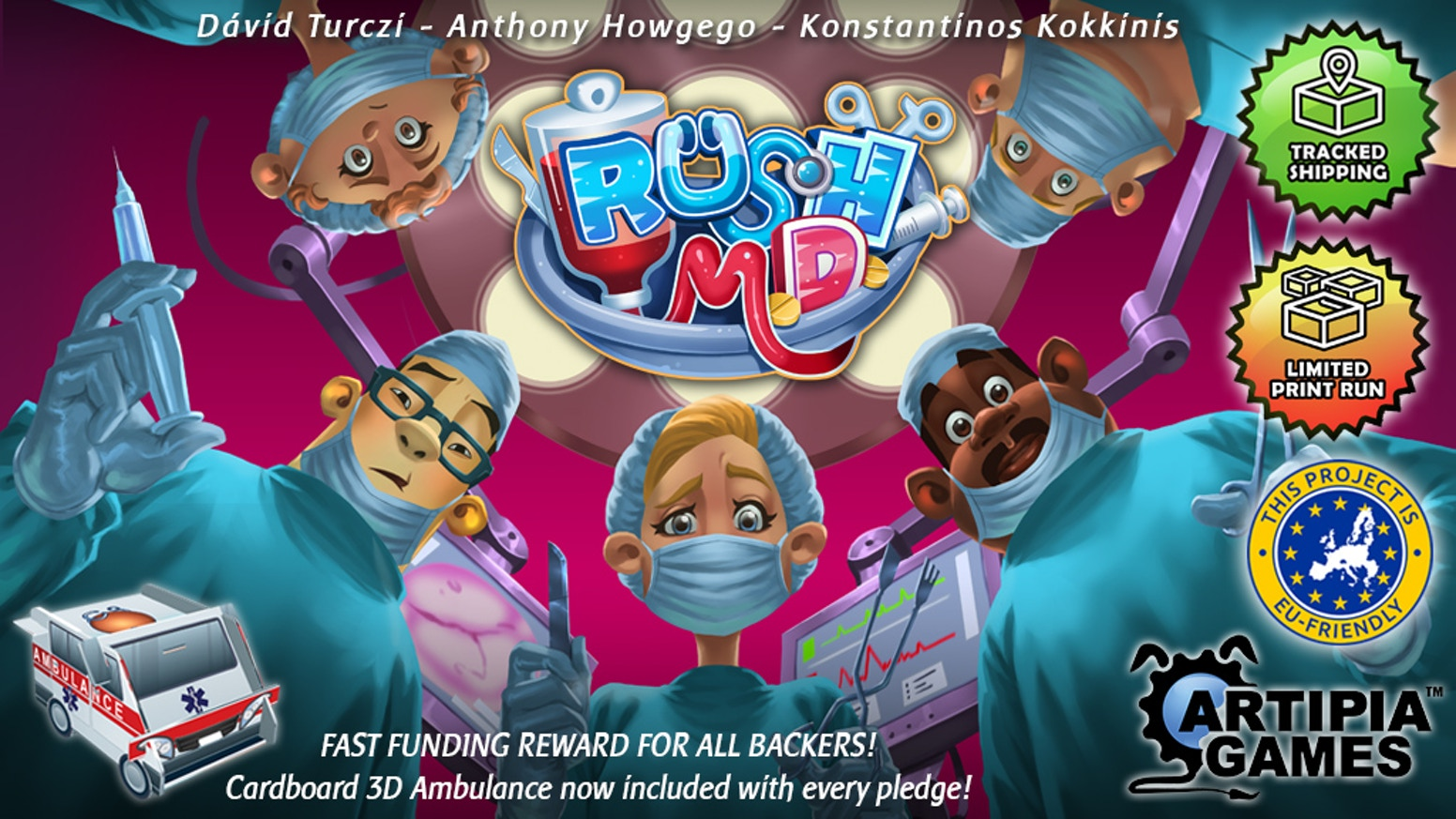 A real-time cooperative board game set in a high pressure Medical Center.