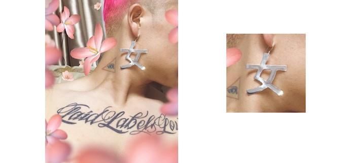 Designer slash earring model
