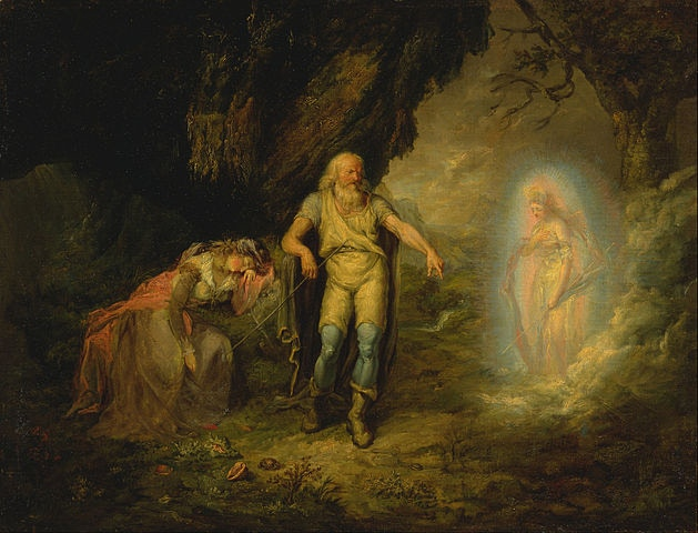 "Prospero, Miranda and Ariel, from ""The Tempest"" Unknown artist, c. 1780"