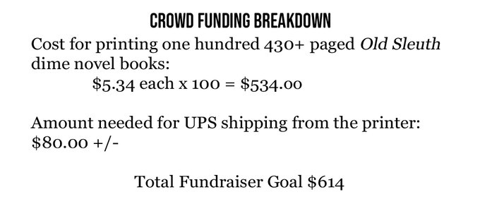 This Kickstarter is for the funding of at least 100 books.