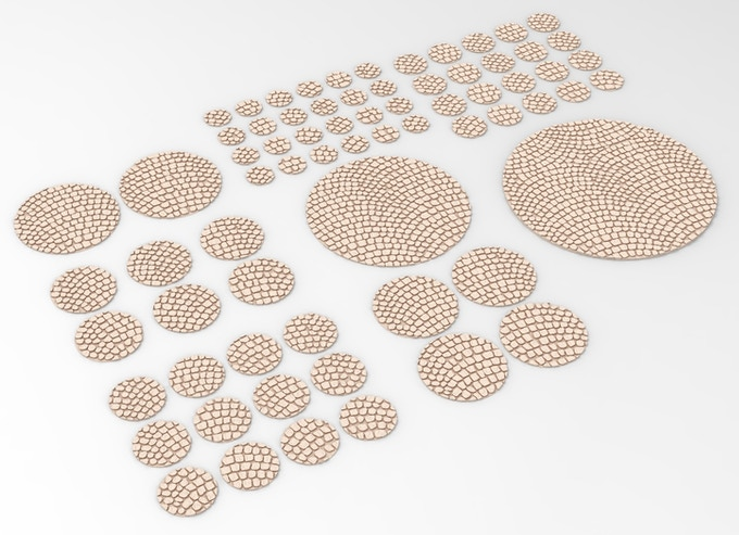 Pavement texture for round bases