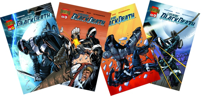 Codename: Black Death #1-4, available in some reward tiers