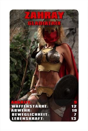Kriegerinnen mit Schild haben die höchste Abwehrkraft gegen Angriffe - Warriors with shield have the highest defense power.