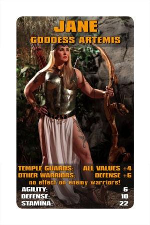 Göttinnen verstärken die Kräfte deiner Kriegerin, einige schwächen zusätzlich den Gegner! - Goddesses enhance the powers of your warrior, some also weaken the opponent!