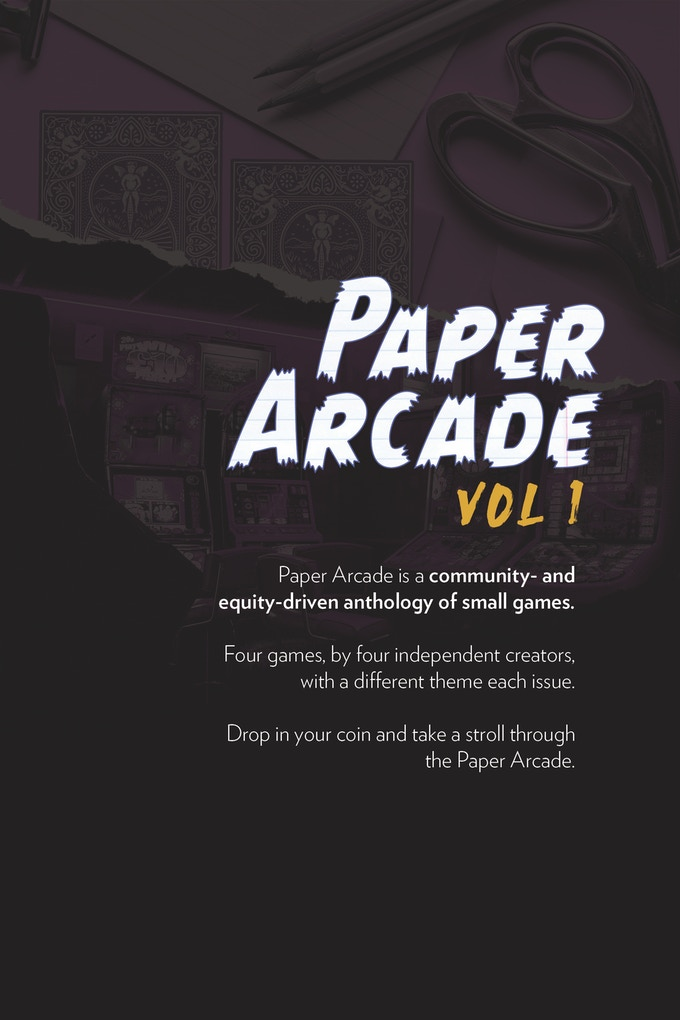Paper Arcade, vol. 1 Back Cover