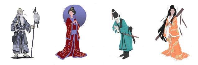Urashima, Uki, Hikoboshi and Orihime