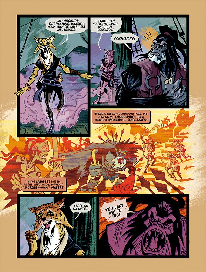 Preview pages of HELL-BOUND, script & art by Pete Taylor