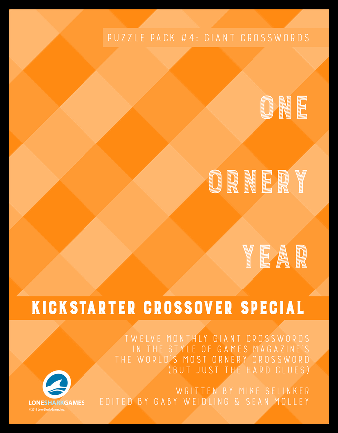 Cover of the Kickstarter/Humble Bundle Crossover Special: Puzzlepack #4 Giant Crosswords