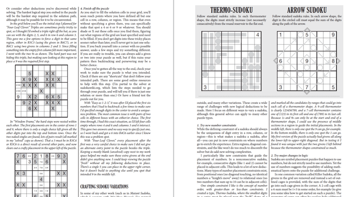 Two-page spread on crafting Sudoku from Puzzlecraft