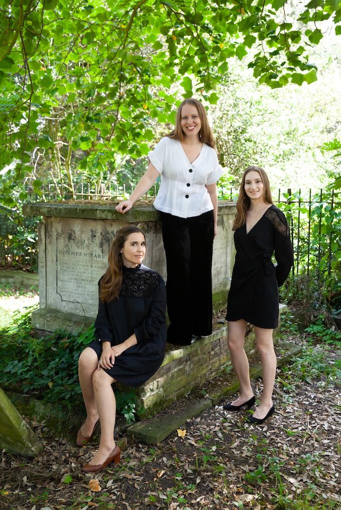 L-R, Béatrice, Alice, and Charlotte (photo: Nick Rutter)