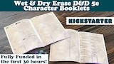 D&D 5e Reusable Character Booklets - Wet Erase Paper thumbnail