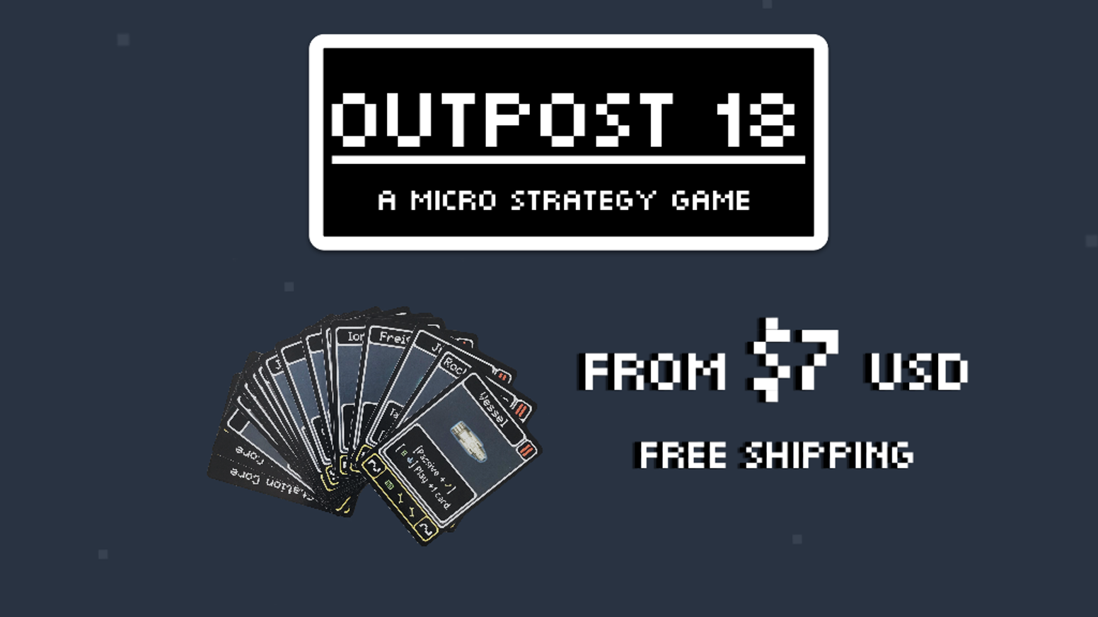 A two player 18-card micro game. Get a quick fix of strategy, hand management, and base-building action.