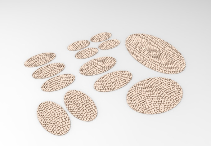 Pavement texture for oval bases