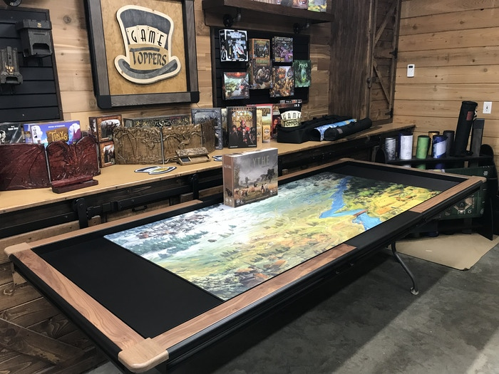Premium Walnut Holmes (36 x 72) with 24 inch standard Extension leaf...36 x 72 Scythe Inspired mat is on it. It looks way better in person than I could have imagined!
