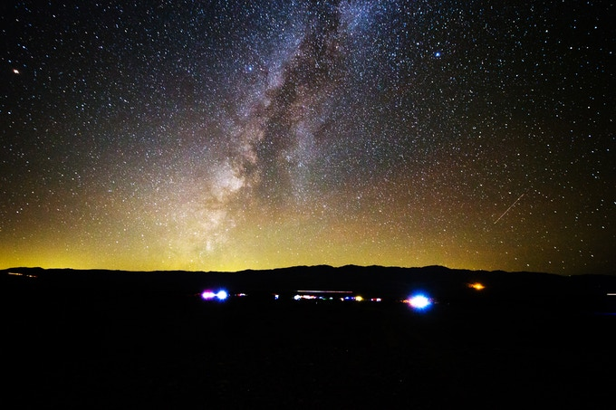 Death Valley Stargazing Camp sits on 80 acres of pristine desert land